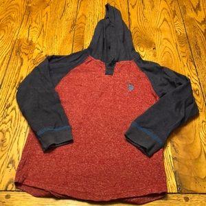 Boys US Polo Assn hooded t shirt